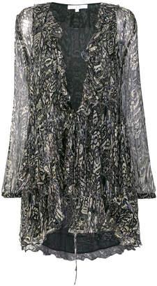 IRO ruffled printed mini dress