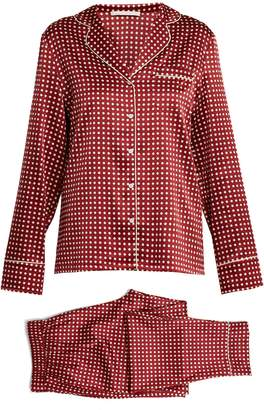 Stella McCartney Polka-dot print stretch-silk pyjama set