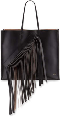 No.21 No. 21 Fringed Leather Tote Bag