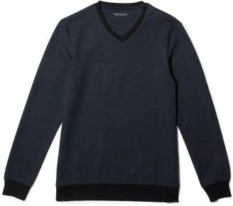 Vince Camuto Mens Mixed-yarn V-neck Pullover