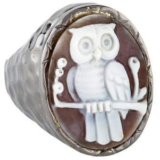 Amedeo Sardonyx Owl Cameo Ring