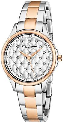 Stuhrling Original Culcita Women's Quartz Watch with White Dial Analogue Display and Multicolour Stainless Steel Bracelet 567.03