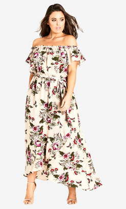 City Chic Lolita Floral Off Shoulder Maxi Dress