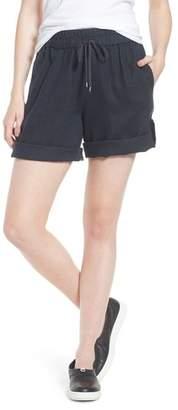 Eileen Fisher Rolled Organic Linen Shorts