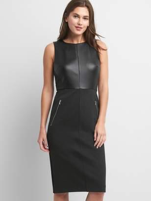 Gap Sleeveless Ponte sheath dress