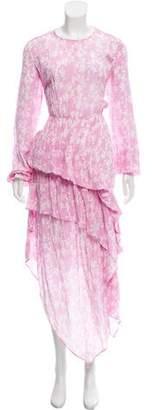 Preen by Thornton Bregazzi Long Sleeve Asymmetrical Dress