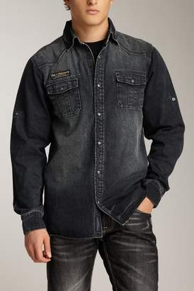Cult of Individuality Denim Long Sleeve Regular Fit Shirt