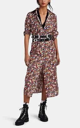 R 13 Women's Floral Cowboy Cotton Shirtdress
