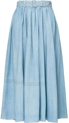 Prada long denim skirt
