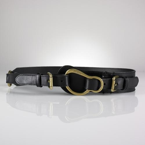 Ralph Lauren Saddle Leather Equestrian Belt