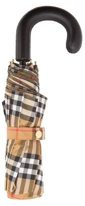 Burberry Vintage Check Foldable Umbrella - Mens - Black Yellow