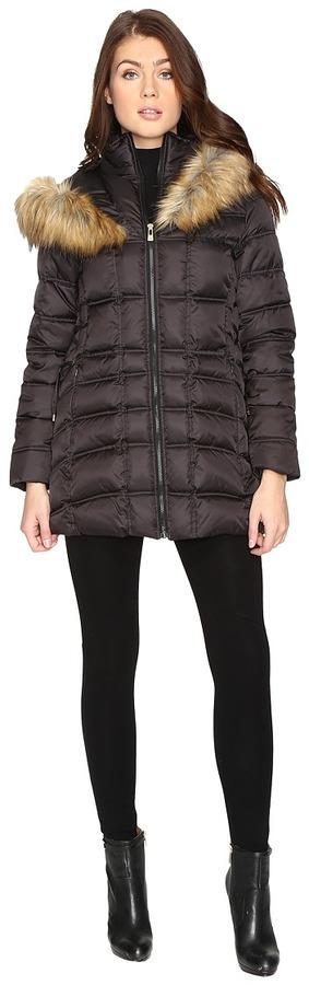 Betsey JohnsonBetsey Johnson Quilted Fur Hooded Coat
