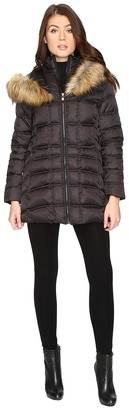 Betsey Johnson Quilted Fur Hooded Coat $250 thestylecure.com