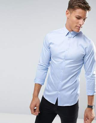Selected shirt with concealed button d