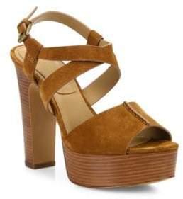 Michael Kors Gramercy Suede Platform Sandals