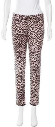 Rag & Bone Mid-Rise Leopard Jeans