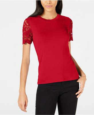 Maison Jules Lace-Sleeve Top