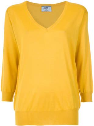 Prada floral cashmere blend sweater