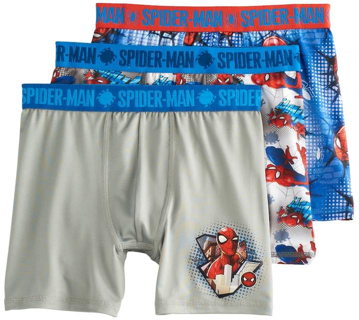 Boys 4-20 Spiderman 3-Pack Boxer Briefs