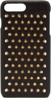Christian Louboutin Loubiphone Leather Iphone 7 & 8 Plus Case - Womens - Black Gold