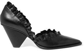Stella Mccartney D'orsay Ruffled Faux Leather Pumps