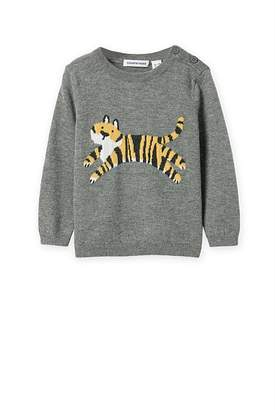 Country Road Tiger Intarsia Knit