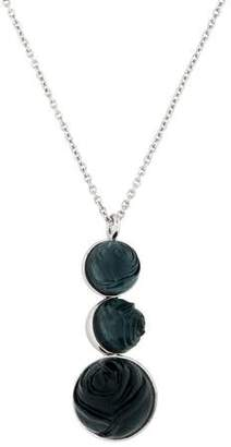 Nina Ricci Carved Rose Pendant Necklace