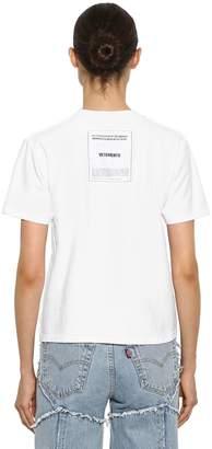 Vetements Inside-Out Logo Jersey T-Shirt