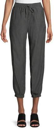 Eileen Fisher Tapered Denim Pull-On Pants, Petite