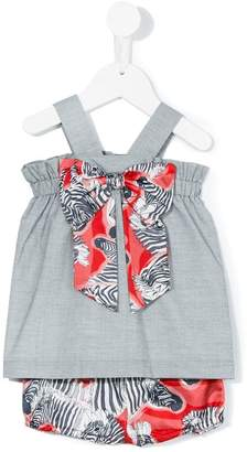 Hucklebones London Printed Bow sundress & bloomers