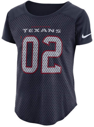Nike Women's Houston Texans Modern Mesh Fan Top