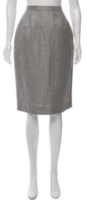 Oscar de la Renta Knee-Length Pencil Skirt Grey Knee-Length Pencil Skirt