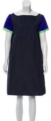Ter Et Bantine Silk Trim Mini Dress