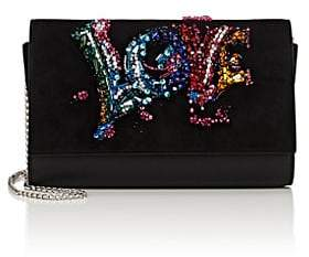 Christian Louboutin Women's Paloma Leather & Suede Chain Clutch - Black