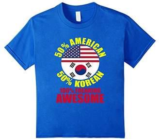 FUNNY HALF AMERICAN KOREAN T-SHIRT Proud Flag Gift
