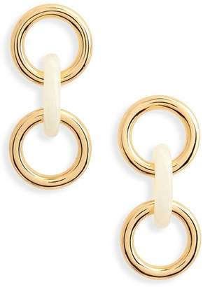 Lizzie Fortunato Triplet Link Drop Earrings