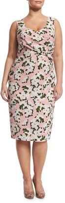 Marina Rinaldi Depliant Sleeveless Flower-Print Sheath Dress, Plus Size $990 thestylecure.com