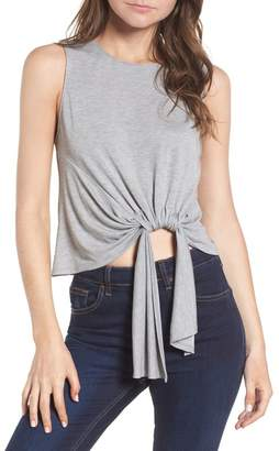 ASTR the Label Tie Waist Crop Tank