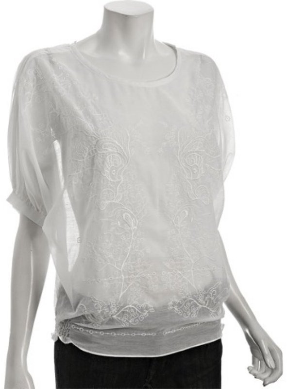 Eryn Brinie white embroidered cotton-silk voile blouse