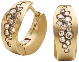 Antonini Matte 18K Yellow Gold Matera Cognac Diamond Earrings