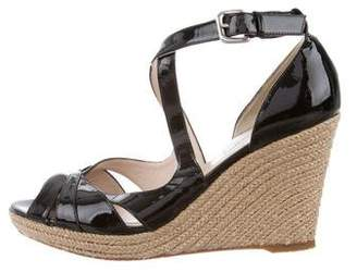 LK Bennett Patent Leather Espadrille Wedges