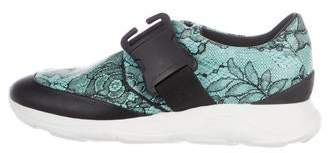 Christopher Kane Leather Slip-On Sneakers