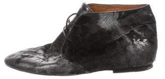 Etoile Isabel Marant Leather Ponyhiar-Accented Boots