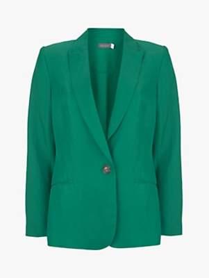 Mint Velvet Cropped Blazer, Ivy Green
