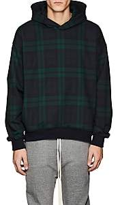 Fear Of God Men's Plaid Cotton Oversized Hoodie-Navy