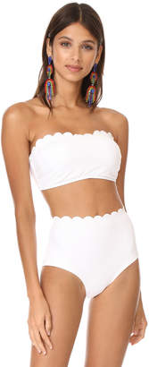 Kate Spade New York Scalloped Bandeau Bikini Top $85 thestylecure.com