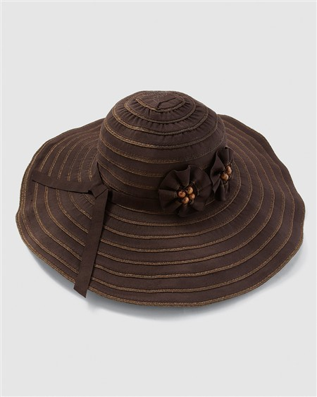 Chico's Stripe Ribbon Hat