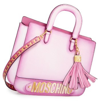 Moschino Moschino 2D Double Handle Leather Tote - Pink