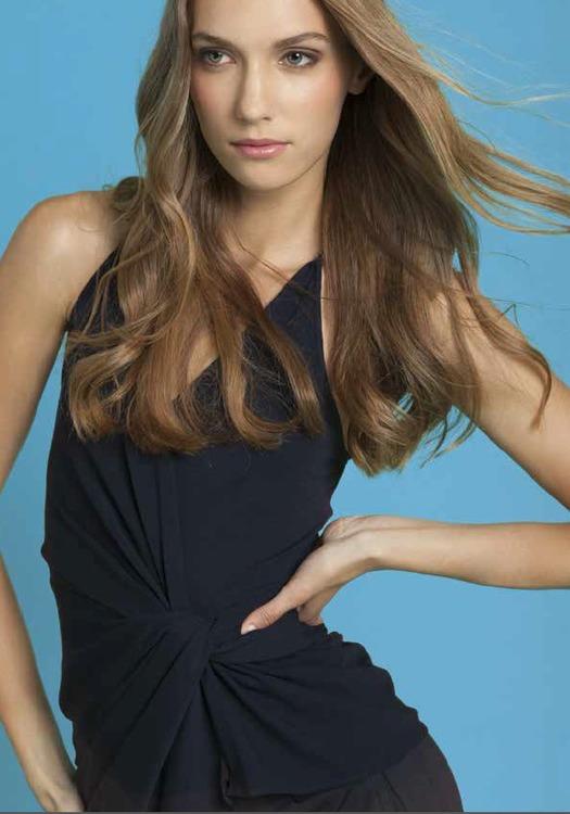 Chris Gramer - Katherine Asymmetrical Top in Black