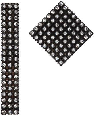 Christopher Kane Black Diamond Mix Earrings